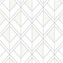 Grey Diamond Shadow Geometric Wallpaper