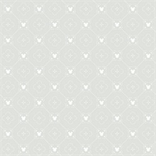Grey Disney Mickey Mouse Argyle Wallpaper
