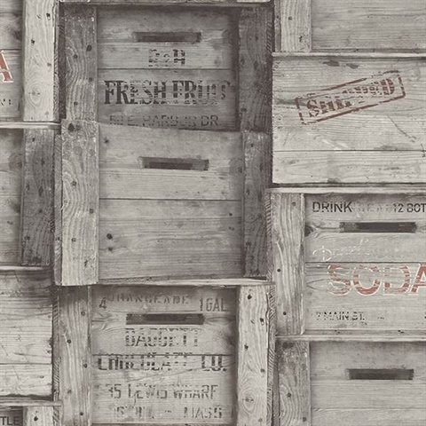 Grey Distressed Wood Crates