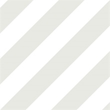 Grey, Dove and Seagull Diagonal Stripe Prepasted Wallpaper