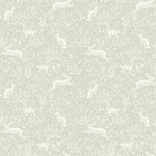 Grey Fable Rabit & Squirrel Animal Print Rifle Paper Wallpaper
