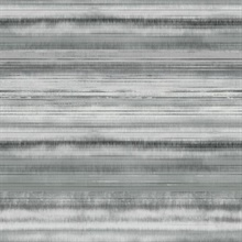 Grey Fleeting Horizon Horizontal Stripe Wallpaper
