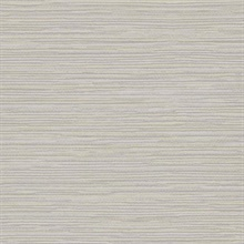 Grey & Gold Ramie Faux Weave Horizontal Textured Wallpaper