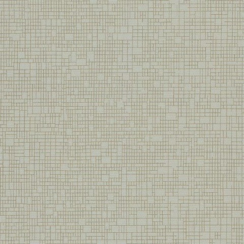 Grey & Gold Wires Crossed Geometric Textured Wallpaper