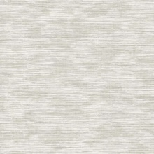 Grey Grass Texture Print with Textile Strings Wallpaper