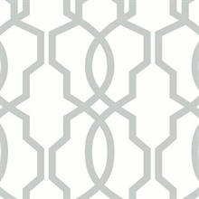 Grey Hourglass Trellis Geometric Wallpaper