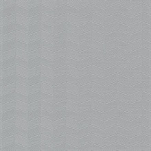 Grey Insignia Geometric Heavy Textured Wallpaper