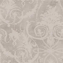 Grey Melina Damask