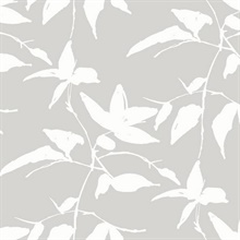 Grey Persimmon Leaf Wallpaper
