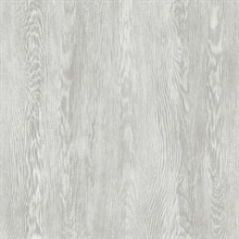 Grey Quarter Sawn Faux Wood Wallpaper