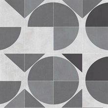 Grey Radius Geometric Wallpaper