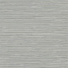Grey Ramie Faux Weave Horizontal Textured Wallpaper
