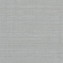 Grey Spun Faux Silk Textured Linen Wallpaper