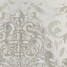 Grey Sugdin Damask