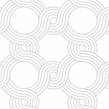 Grey The Twist Geometric Wallpaper
