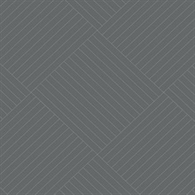Grey Twisted Tailor Geometric Wallpaper
