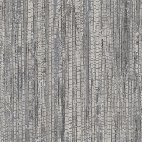 Grey Vertical Faux Grasscloth