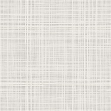 Grey & White Abstract Faux Weave Texture Wallpaper