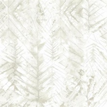 Grey & White Textural Impremere Leaf Wallpaper