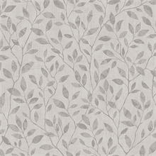 Grey Willow Leaf Wallpaper