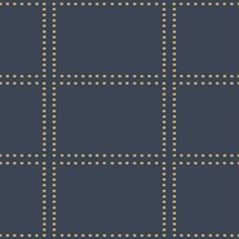 Gridlock Navy Geometric Wallpaper