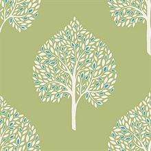 Grove Green Tree Wallpaper