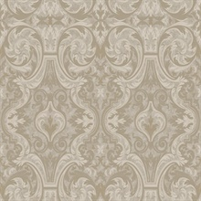 Guinevere Grey Baroque Marquetry Wallpaper