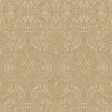 Guinevere Sand Baroque Marquetry Wallpaper