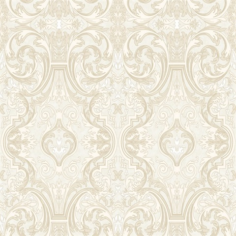 Guinevere Storm Baroque Marquetry Wallpaper