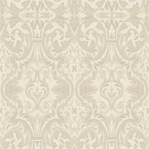 Guinevere Winter Baroque Marquetry Wallpaper
