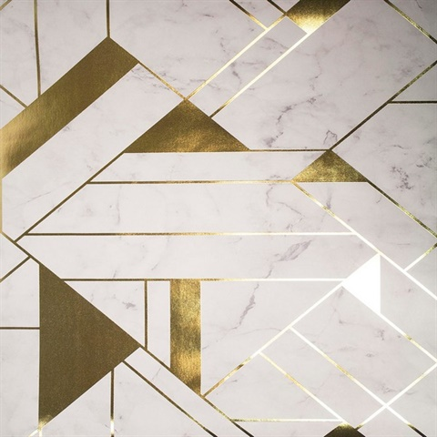 Gulliver Off-white Marble Geometric