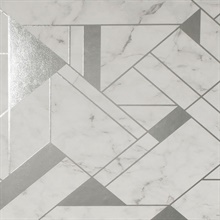 Gulliver Silver Marble Geometric