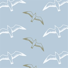 Gulls - British Lichen colourway wallpaper