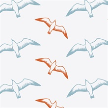 Gulls - Chalkhill Blue colourway wallpaper