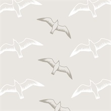 Gulls - Stone colourway wallpaper