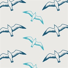 Gulls - Washed Denim colourway wallpaper