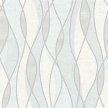 Gyro Light Blue Swirl Geometric