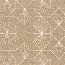 Halcyon Neutral Geometric Wallpaper
