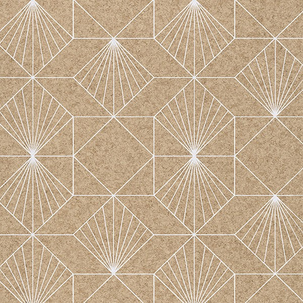 366081 Halcyon Neutral Geometric Wallpaper Wallpaper