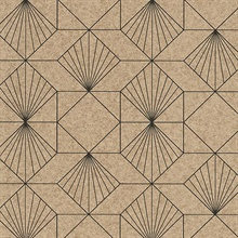 Halcyon Sand Geometric Wallpaper