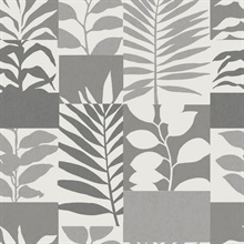 Hammons Silver Block Botanical Wallpaper