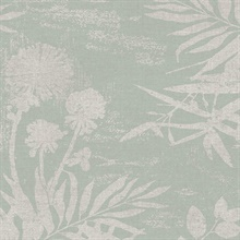 Hedda Light Green Botanical Wallpaper