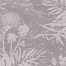 Hedda Mauve Botanical Wallpaper