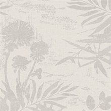 Hedda Off-White Botanical Wallpaper