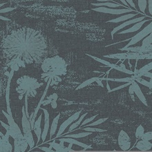 Hedda Turquoise Botanical Wallpaper