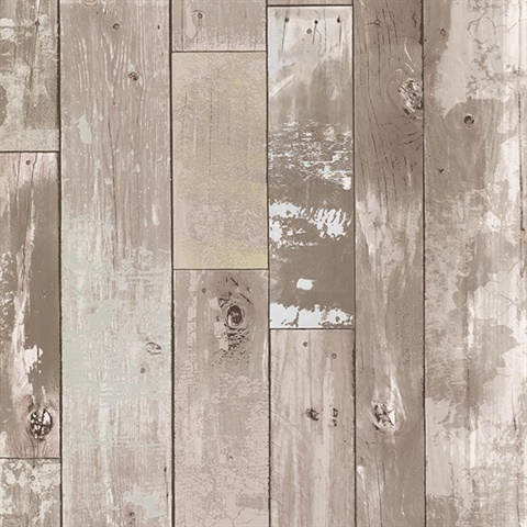 Heim Taupe Distressed Wood Panel