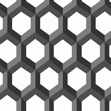 Hex Black Geometric Wallpaper