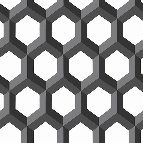 2716 23841 Hex Black Geometric Wallpaper Wallpaper