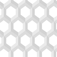 Hex Grey Geometric Wallpaper