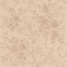 Highbury Champagne Floral Scroll